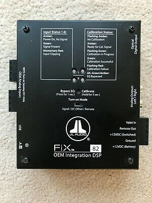 JL Audio FIX-82 8-CH OEM Integration DSP Digital Signal Processor & Digital EQ
