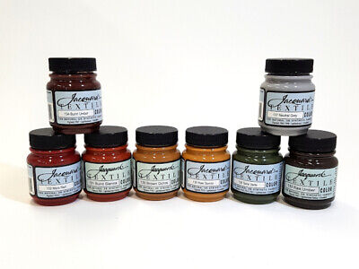 Jacquard Textile Fabric Paint Earth Colour Set of 8
