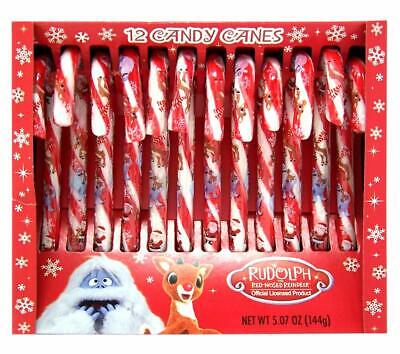 Christmas Rudolph The Red Nosed Reindeer Candy Canes 5.07 Ounce