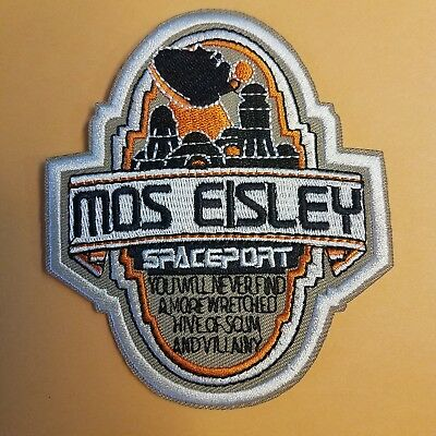 Star Wars Mos Eisley Spaceport Patch 4 1/2 inches tall