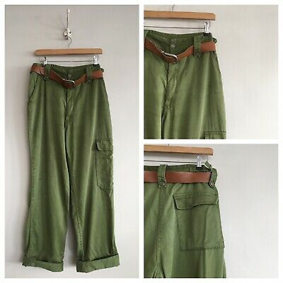 """True Vintage 1970s/80s Green Military Style Workwear Trousers Pants W32"""" 34"""""""