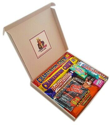 American Chocolate Candy Sweet Selection Gift Box, Baby Ruth, Hershey, Reese's,