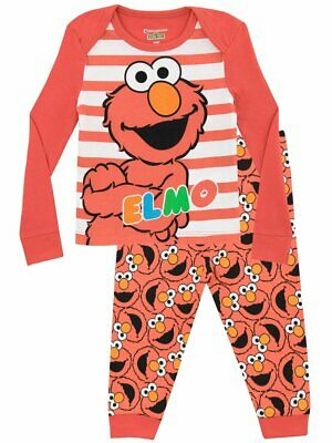 New With Tags Girls Kids Childrens Sesame Street Elmo Pyjamas. Age 18-24 Months