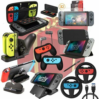Nintendo Switch (2018 Pack) Accessories Bundle - Geek Pack by Orzly