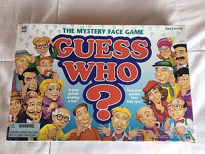 Vintage Guess Who? Board Game Milton Bradley Mystery Face Game Family Game Fun