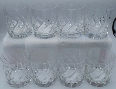 Mikasa Olympus Double Old Fashioned crystal glasses lot of 8.  Excellent Cond.