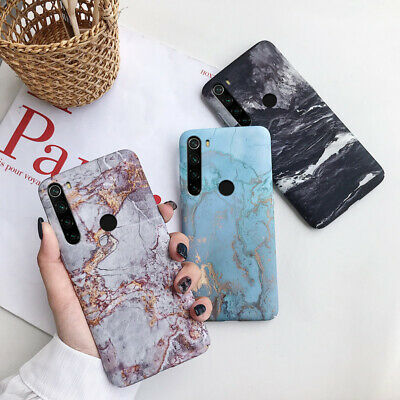 For Xiaomi Redmi Note 8 7 Pro Mi 9 8 Lite Matte Hard Gold Foil Marble Phone Case