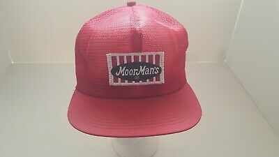 Vintage  Moor Man's All Mesh Red Trucker Snapback K Products Hat