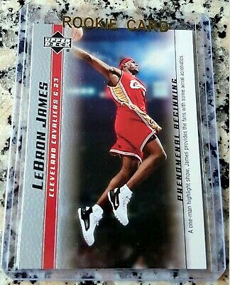 LEBRON JAMES 2003 Upper Deck SP #1 Draft Pick Rookie Card RC Finals MVP Lakers $