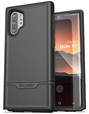 Samsung Galaxy Note 10 Plus Protective Case Full Body Rugged Cover Black