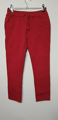 Burberry Girls red track suit pants, Size 10 yrs