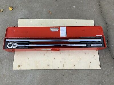 """LARGE 70"""" Wright Tool 8447 1"""" Drive Torque Wrench Ratchet 200 - 1,000 FT LBS."""