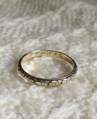 1920s Art Deco Fillegre 14k Yellow Gold Stacking Men's Wedding Engraved Band 9