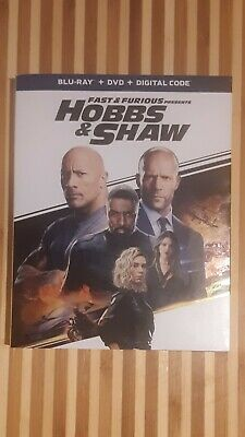 Fast And Furious Presents HOBBS & SHAW - BRAND NEW BLU-RAY + DVD + DIGITAL CODE