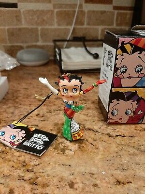 Betty Boop by Britto  Hands In The Air Figure 4046445 with free key chain!