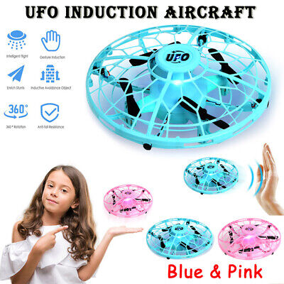 Mini Drone Quad Induction Levitation UFO Hand Operated Aircraft Toys For Kids US