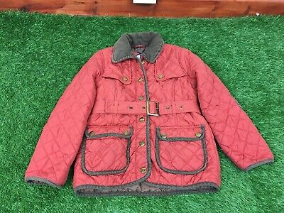 Jasper Conran Girls Age 7-8 Years Burnt Orange Quilted Coat Barber Style