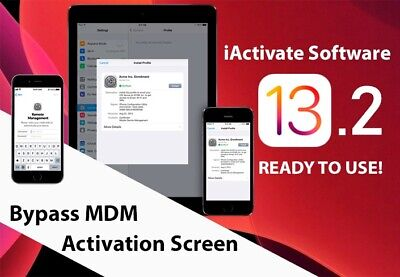 MDM BYPASS/ REMOTE MANAGEMENT BYPASS iPHONE/ iPOD/ iPAD TILL IOS 13 SUPPORTED