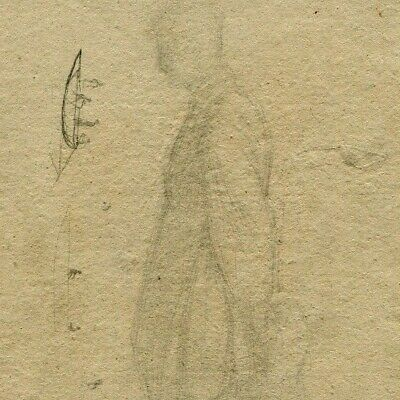 19th Old Antique Pencil Drawing - Dessin Ancien - Homme, Man, Profil