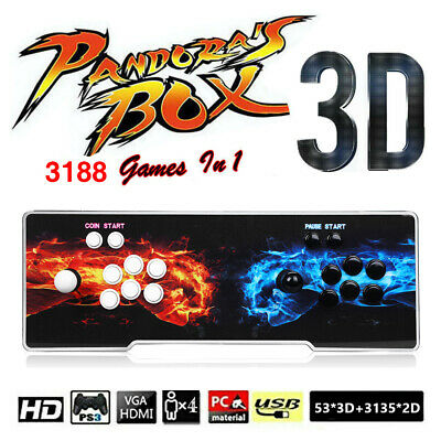 Pandora's Box 3188 in 1 Games Double Stick Arcade Console HD VGA Support PC TV