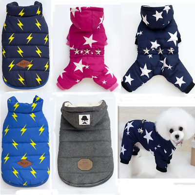Dog Cat Coat Jacket Pet Lightning Clothes Winter Apparel Clothing Puppy Costume