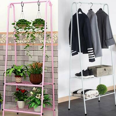 Display Storage Clothes Rail Rack Garment Dress Hanging Stand Shoe Rack Shelfs