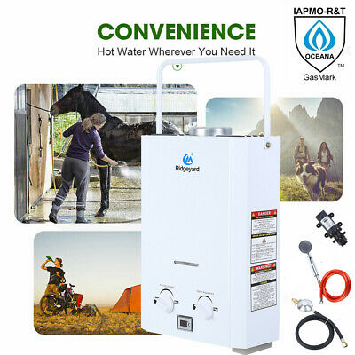 Portable 6L LPG Gas Water Heater Instant Shower Boiler Camping RV Trip Outdoor