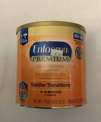 ENFAGROW PREMIUM Toddler Transitions Infant Baby Child Formula 20oz Can