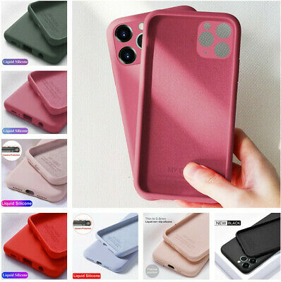 For iPhone 11 Pro Max X XS XR 8 7 Liquid Silicone Case Camera Protect Soft Cover