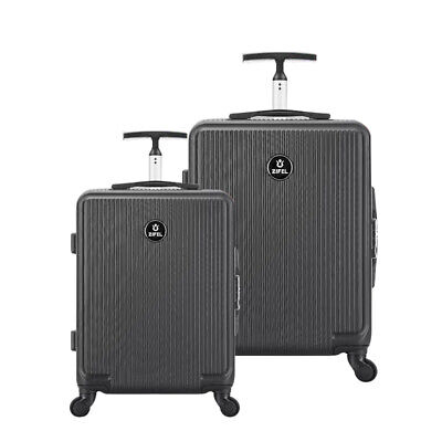 Hard Shell 4 Wheel Spinner Suitcase Case Luggage Trolley Cabin Black 24'' 28''