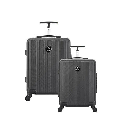 Hard Shell 4 Wheel Spinner Suitcase Case Luggage Trolley Cabin Carry On 2Pcs