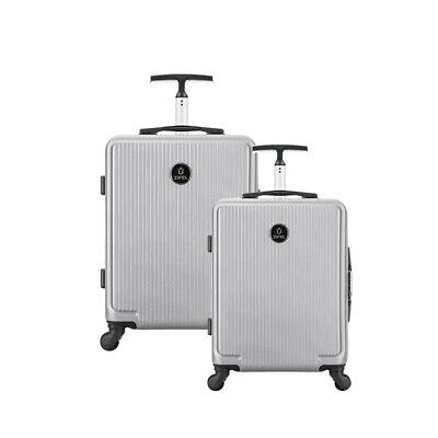 2 Sets Hard Shell Cabin Suitcase Trolley Case 4 Wheel Luggage Lightweight