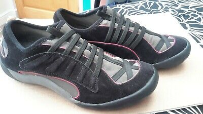 CLARKS ACTIVE AIR Womens Trainers Uk Size 3D black Suede