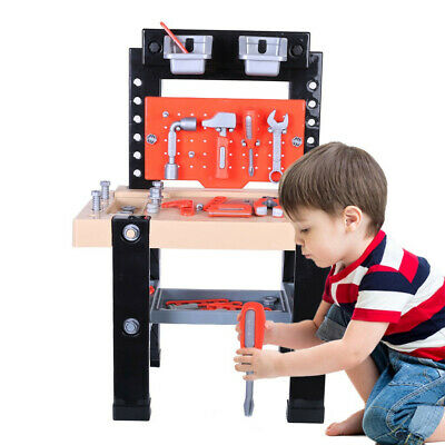 Tool Box Set Children Construction Workbench 64 Pieces Toddler Educational Toys