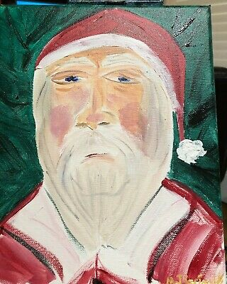 "Fine Art Painting by M.J.Grimaldi Called  "" Poor Santa"" Christmas Special HO HO"
