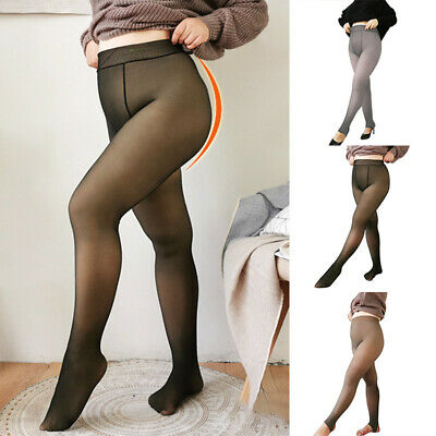 Warm Fleece Lined Pantyhose Soft Winter Thick Stretchy Pantyhose Plus Size