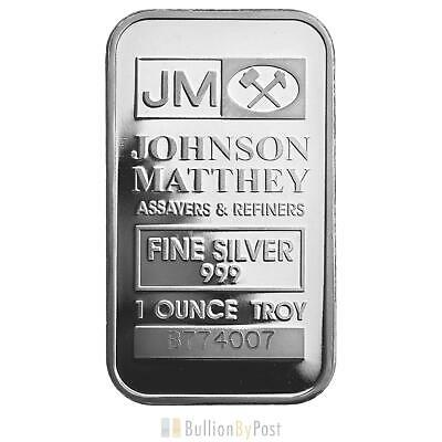 Pre Owned 1 x 1oz Silver Johnson Matthey Bar