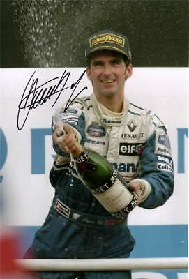 """Damon Hill F1 Autographed 12x8"""" photo with C.O.A"""