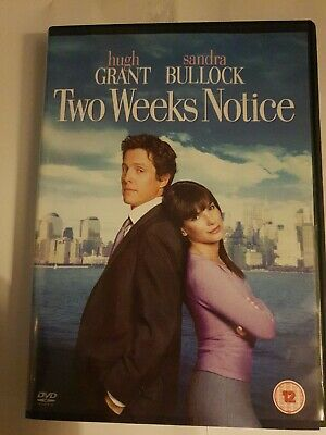 Two Weeks Notice (DVD, 2003) FREE POSTAGE