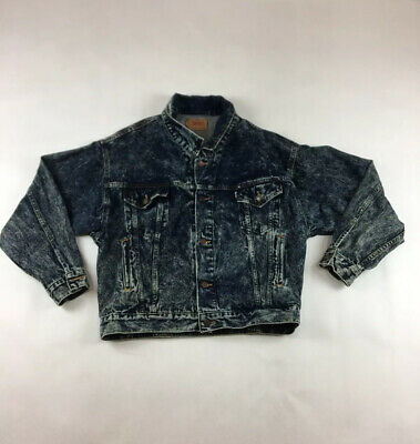 Levi's VTG 80's Adult Acid Wash Trucker Jean Jacket Medium 75068-0227 RARE!