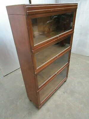 Beautiful Vintage Original Globe Wernicke 4 Tier Book Display Cabinets
