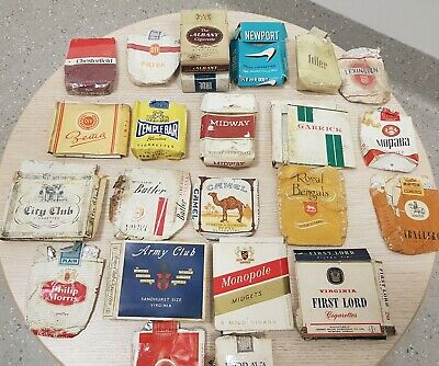 Collection of vintage Cigarette packets