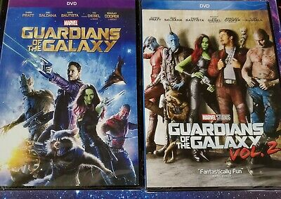 Guardians of the Galaxy Vol 1 and 2 DVD Brand New Sealed