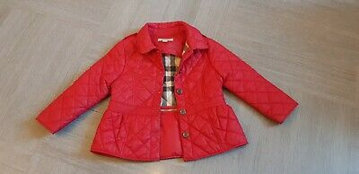 Burberry Girls Red Jacket Size 2Yrs