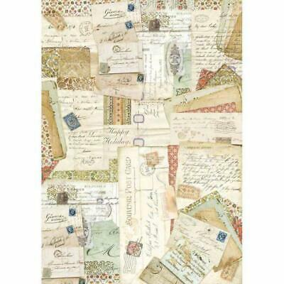 DFSA3005 Postcards Stamperia Rice Paper A3 size 42x30cm Decoupage Mixed media