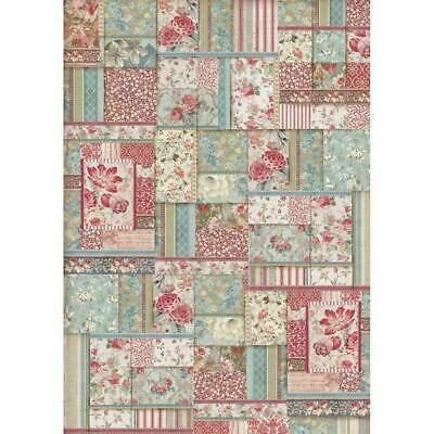 DFSA3038 Flower Patch Stamperia Rice Paper A3 size 42x30cm Decoupage Mixed media