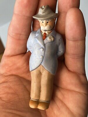 Early Antique German Bisque Comic Nodder Mr. Wicker Made in Germany NM+