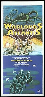 WARLORDS OF ATLANTIS Sci Fi Original Daybill Movie Poster Doug McClure Monster