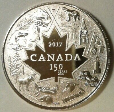 2017 'CANADA 150' UNC SPECIMEN 99.9% SILVER 3 DOLLARS COIN - Heart of Our Nation