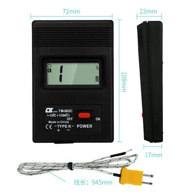 TM-902C LCD Display Digital Thermometer Precision Temperature Meter K-Type Probe